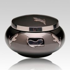 Leaping Cat Cremation Urn