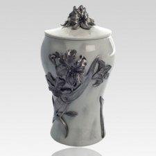 Lily Pewter Keepsake Cremation Urn