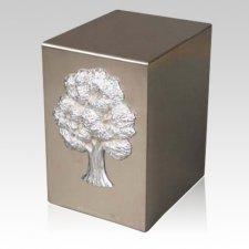 Lustro Oak Steel Urn