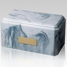 Macadam Grey Marble Cremation Urn