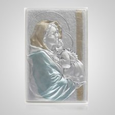 Madonna of the Streets Silver Medallion Applique