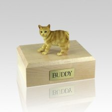 Manx Red Taby Small Cat Cremation Urn
