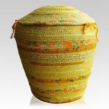 Marigold Cotton Cremation Urn