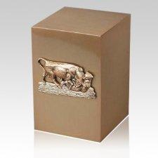 Market Bronze Cremation Urn