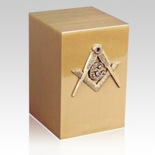 Masonic Bronze Cremation Urn