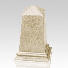 Natural Obelisk Cultured Granite Pet Cremation Urn