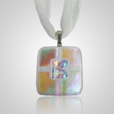 Clear Gold Small Memorial Ashes Pendant