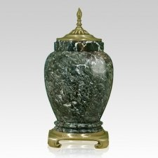 Palm Gold Tone Marble Cremation Urn