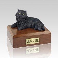 Persian Black Medium Cat Cremation Urn
