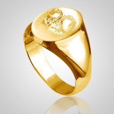 Pet Signet Ring Print 14k Yellow Gold Keepsakes