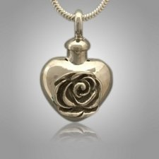 Pet Rose Heart Cremation Pendant