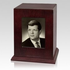 Picture Wood Cremation Urn