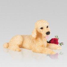 Gold Poodle Dog Urn