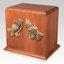 Praying Hands Cremation Companion Urn