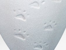 Paw Print Quartz Small Biodegradable Urn