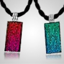 Radiance Silver Glass Memorial Jewelry