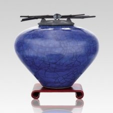 Raku Lapis Large Cremation Urn