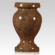 Red Multi Color Granite Vase