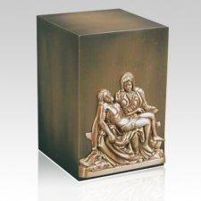 Relic Pieta Bronze Urn