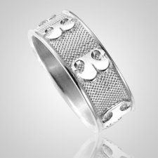Pet Heirloom Ring Print 14K White Gold Keepsakes