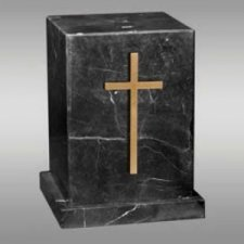 Rio Marble Cross Cremation Urn