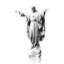 Rise Sacred Heart of Jesus Small Marble Statues
