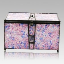 Rose Cathedral Glass Memory Chest