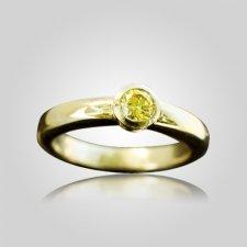 Round Bezel Set Ring