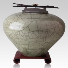 Raku Sage Multi Family Cremation Urn