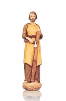 Saint Giuseppe Lavoratore Small Fiberglass Statues