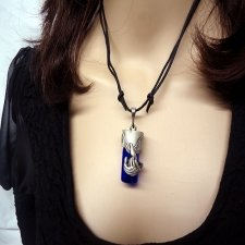 Dragon Blue Pet Cremation Necklace Urn