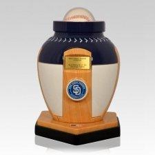 San Diego Padres Baseball Cremation Urn