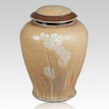 Taupe Ceramic Cremation Urn
