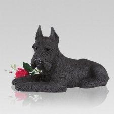 Black Schnauzer Cremation Urn