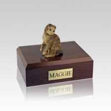 Scottish Fold Brown Tabby Small Cat Cremation Urn