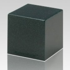 Sea Holly Green Cube Keepsake Cremation Urn