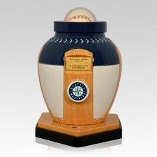 Seattle Mariners Baseball Cremation Urn