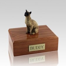 Siamese Tan Medium Cat Cremation Urn