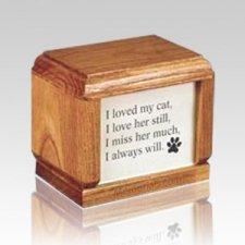 Hardwood Small Pet Wood Urn