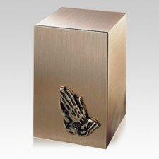 Solitude Praying Hands Bronze Cremation Urn