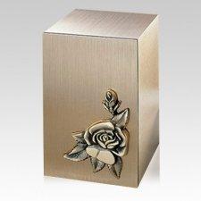 Solitude Rose Bronze Cremation Urn