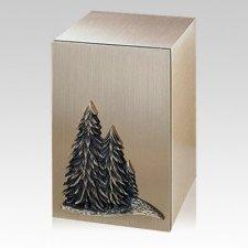 Solitude Trees Bronze Cremation Urn