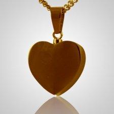 Steel Plated Heart Keepsake Pendant
