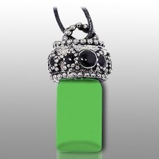 Stars Green Pet Urn Necklace