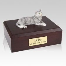 Tabby Gray X Large Cat Cremation Urn