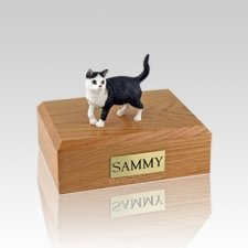 Tabby Standing Small Cat Cremation Urn