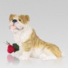 Tan Bulldog Pet Cremation Urn