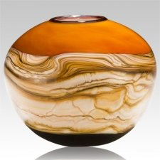 Sphere Tangerine Cremation Urn For Two