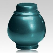 Teal Coronet Pet Cremation Urns