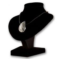 Teardrop Silver Cremation Pendant